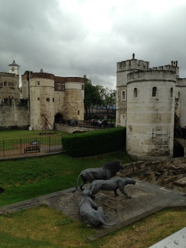 Replica of Lions that once lived at The Tower
