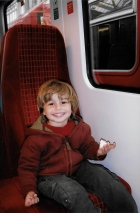 Riding the train to Windsor