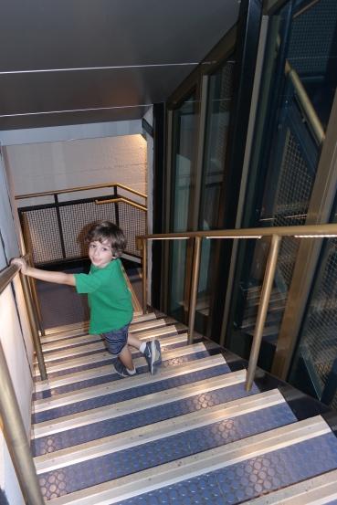 Walking down the Pedestal stairs