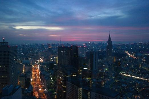 Sunset from the 43rd Floor Park Hyatt Shinjuku Tokyo