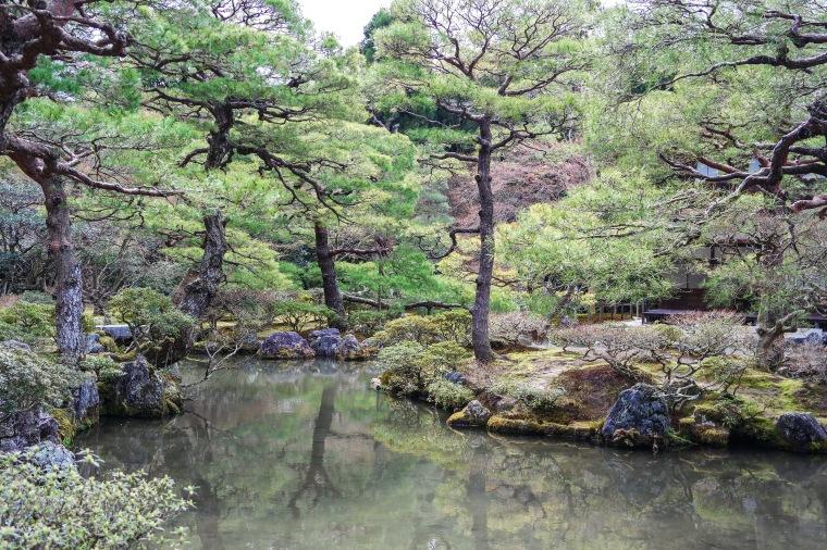 Gardens of Ginkaku-ji Temple of the Silver Pavilion Kyoto