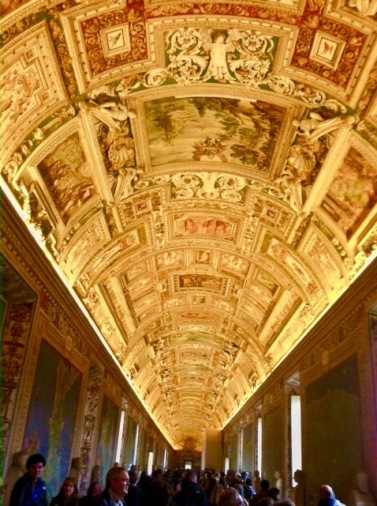 The Map Room on the way to the Sistine Chapel is amazing!