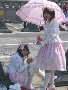 Harajuku Girls dressed in the Sweet Lolita style.