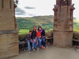 There are lovely views from the top of the Wallace Monument