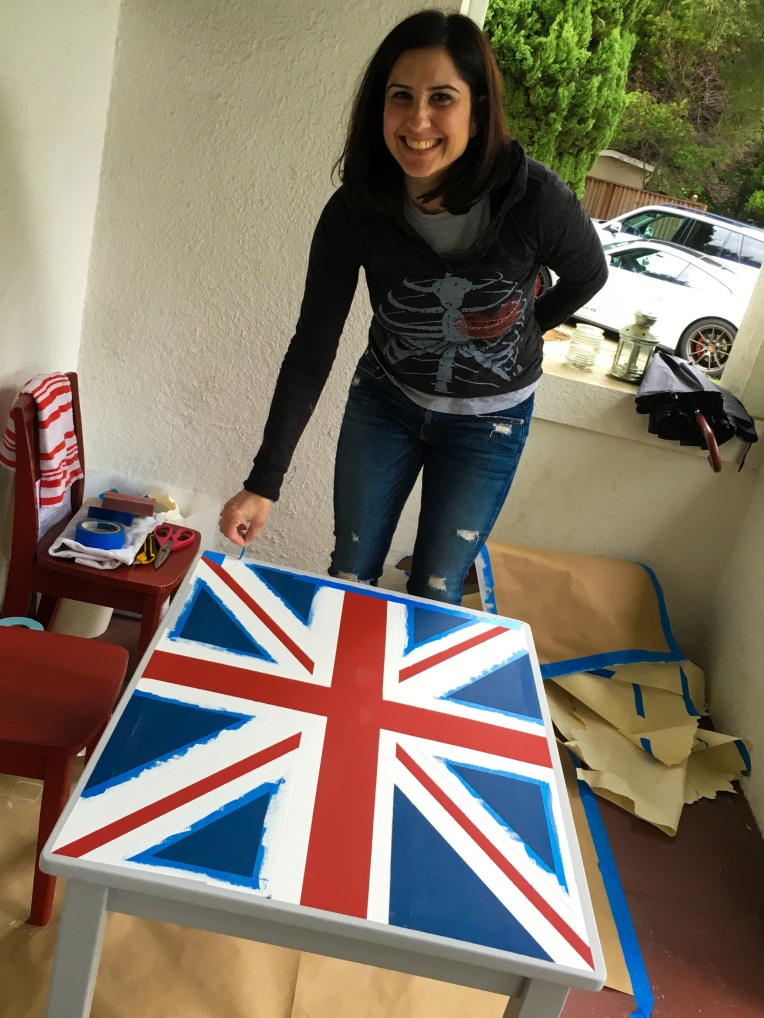 DIY Union Jack Table-