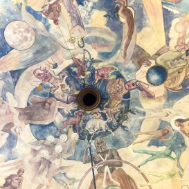 Ceiling inside the Observatory